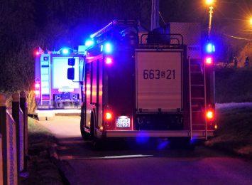Pożar domu w Rudniku