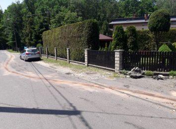 Wypadek na ulicy Łącznej w Rybniku. Sprawca uciekł