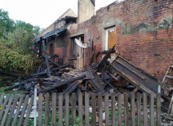 Dzimierz: pożar zniszczył cały budynek