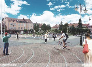Przebudowa fontanny w Żorach