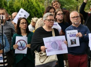 Cieszyn: Protest przeciwko wieży komórkowej [WIDEO,FOTO]