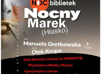 Noc bibliotek ,,Nocny Marek (Hłasko)'' w Rybniku