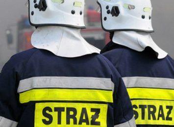 Plama ropopochodna na starej cegielni w Pszowie