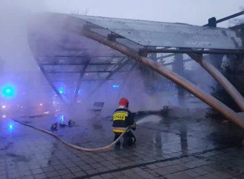 Pożar sceny na rynku w Ustroniu [FOTO]