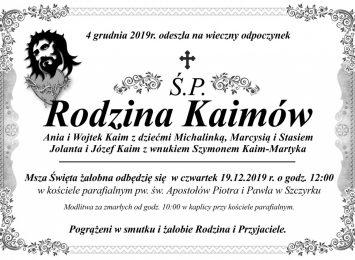 Szczyrk: Pogrzeb tragicznie zmarłej rodziny Kaimów