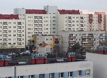 Śmigłowiec LPR lądował na osiedlu w Wodzisławiu