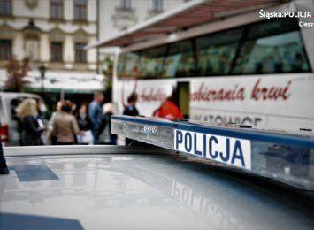 Zbiórkę krwi zapowiada policja z Cieszyna