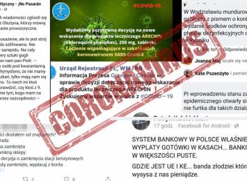 Uwaga na fałszywe informacje związane z koronawirusem