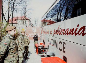 40 śląskich terytorialsów oddało prawie 17 litrów krwi