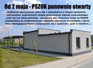 Radliński PSZOK czynny od soboty (2.05.)