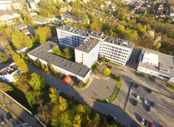 Wymazy przy szpitalu w Wodzisławiu Śląskim