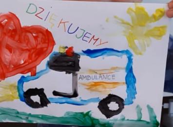 Przedszkolaki z Czerwionki dziękują medykom [WIDEO]