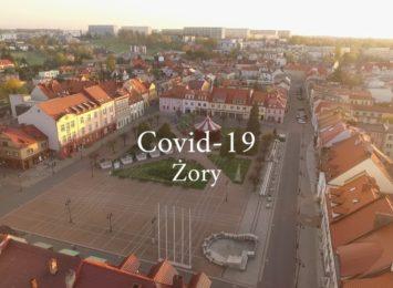 Puste ulice Żor. Miasto walczy z koronawirusem [WIDEO]