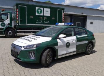 Inspekcja Transportu Drogowego chwali się elektryczny samochodem
