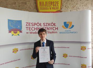 Wodzisław: Uczeń ZST został finalistą olimpiady ,,Euroelektra''