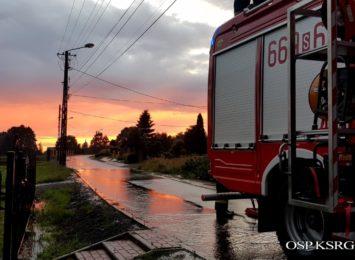 Zalane piwnice i podtopienia w gminie Godów. Strażacy mieli pełne ręce roboty