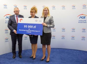Czek na  95 tysięcy złotych dla szpitala w Rybniku