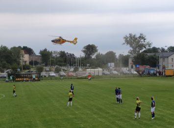 Lądowanie helikoptera LPR w Rybniku-Niedobczycach