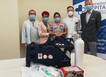 10 respiratorów dla jastrzębskiego szpitala