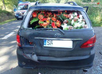 Lyski: Motorowerzysta najechał na osobówkę [FOTO]