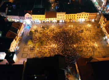 Protest kobiet: Przez Rybnik przemaszerował tłum ludzi. [WIDEO Z DRONA]
