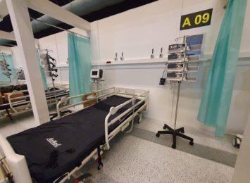 Setka ratowników górniczych oddelegowana do pracy w szpitalu tymczasowym