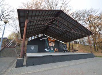 Mural z górnikiem w Jastrzębiu już gotowy