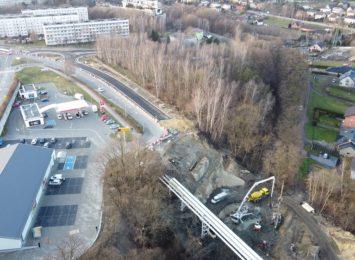 Dobre tempo na budowie ronda i wiaduktu w Jastrzębiu-Zdroju