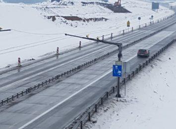 Działa już odcinkowy pomiar prędkości na A1. Autostrada wciąż w budowie