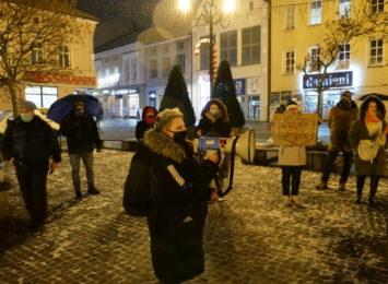 Strajk kobiet w Rybniku. Padały przykłady legalizacji aborcji w Argentynie [LIVE, FOTO]