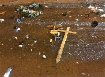 Zdewastował nagrobki, ranił interweniującą osobę. Akt wandalizmu na cmentarzu w Lubomi
