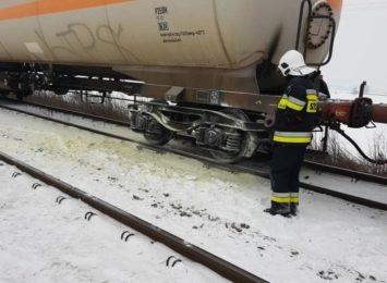 Pożar pociągu na trasie Racibórz-Chałupki