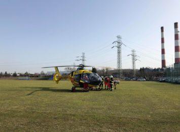 Pożar budynku w Rybniku. Musiał lądować helikopter LPR [LIVE] [FOTO] [AKTUALIZACJA]