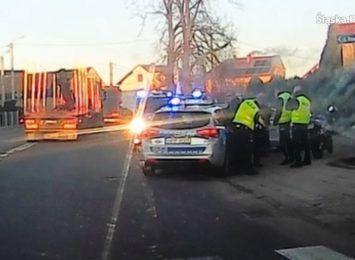 Pościg policji za motocyklistą w powiecie raciborskim