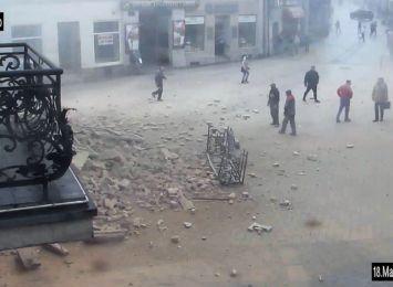 Katastrofa budowlana: Kolejne nagrania i apel policji. W tle sprawy nietrzeźwe osoby [WIDEO]