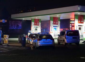 Napad na stację benzynową w Rybniku. Na miejscu policja i prokurator