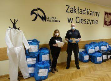 Osadzeni w Zakładzie Karnym w Cieszynie uszyli odzież ochronną
