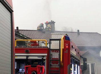 Jastrzębie-Zdrój: Akcja straży pożarnej. Paliła się sadza w kominie [WIDEO]
