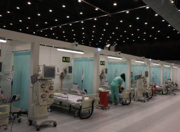 Kolejny moduł w szpitalu tymczasowym w Katowicach. Od poniedziałku ruszy szpital w Pyrzowicach