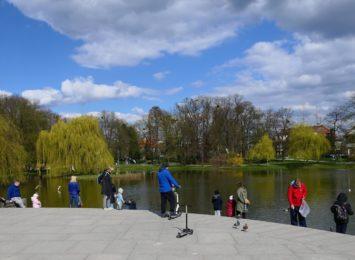 Znaleźliśmy wiosnę w raciborskim parku im. Miasta Roth! [WIDEO, FOTO]