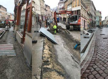 Cieszyn: postępują prace na ulicy Głębokiej