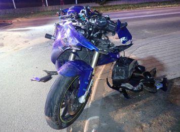 Pijany motocyklista na drogach powiatu rybnickiego