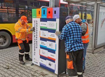 Pojemnik na elektroodpady w centrum Wodzisławia