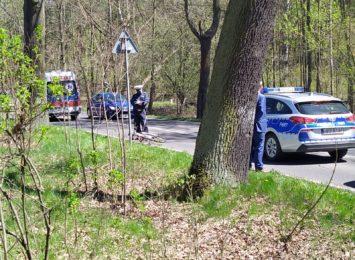 Potrącenie rowerzysty na ulicy Robotniczej w Rybniku