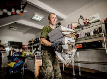 Śląscy terytorialsi pomagają w walce z podtopieniami w Rydułtowach