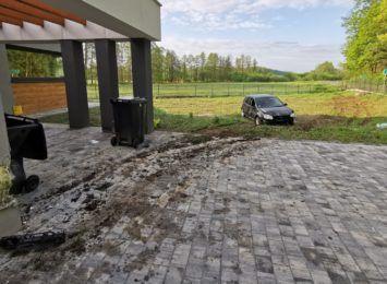 Pijany kierowca wjechał w dom w Żorach