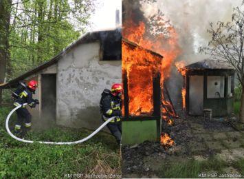 Pożar altanki przy Podhalańskiej w Jastrzębiu-Zdroju. Straty wstępnie oszacowano na 10 tysięcy złotych