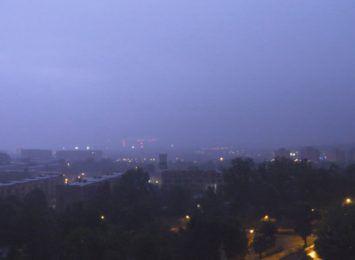 Burza nad regionem: Zobacz film nagrany w Rybniku. W tle widać elektrownię [WIDEO]