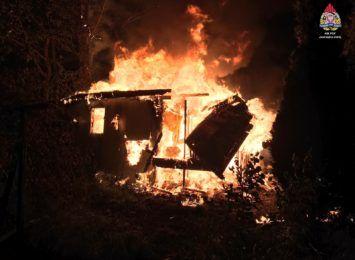 Pożar altanki w Jastrzębiu-Zdroju. Straty wstępnie oszacowano na 5 tysięcy złotych