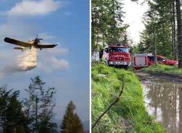 Pożar lasu na Baraniej Górze. Do akcji poleciał samolot [FOTO]